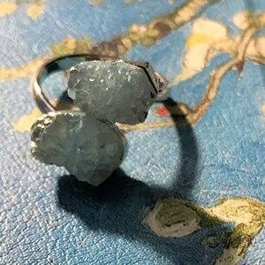 Jewelry - Adjustable Blue Quartz Ring